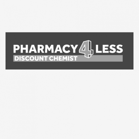 Pharmacy 4 Less B&W Logo