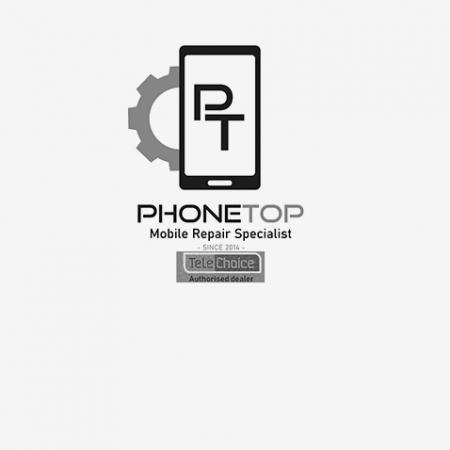 Phone Top Logo B&W